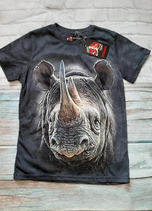 Шикарная футболка на мальчика с носорогом 3д 3d
