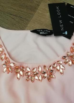 Шикарное шифоновое платье с камнями, сукня, сарафан3 фото
