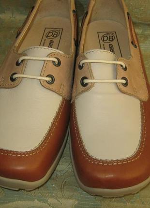 Easi comfortable суперкомфортные кожаные туфли легкие натуральная кожа внутри/снаружи