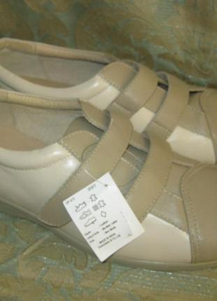 Германия суперкомфортные легкие кожаные туфли натуральная кожа внутри/снаружи