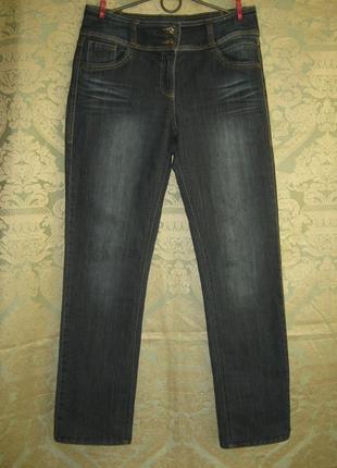 Германия джинсы темно синие скини тянуться удобная посадка без дефектов штаны брюки