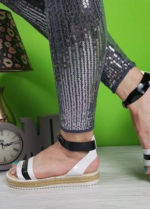 Модные босоножки на плетёной подошве3 фото