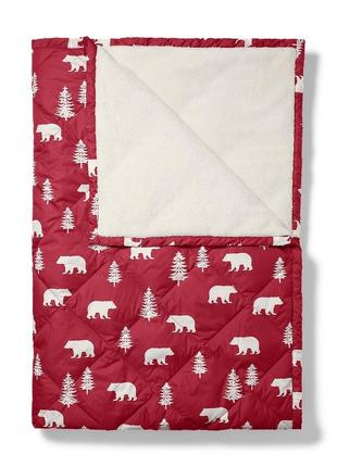 Одеяло eddie bauer down throw holly red