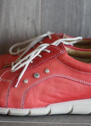 Кожаные кроссовки, туфли повышенной комфортности wolky 41-42