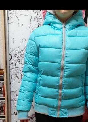 Зимняя двухсторонняя тёплая куртка.