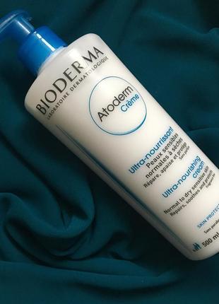 Bioderma atoderm nourishing creme - крем для лица и тела 500 мл