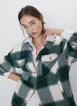 Рубашка в клетку зара куртка