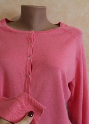 Мягкая. приятная к телу кофта  на пуговицах,кардиган розовая