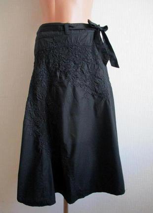 Sale -50%! шикарная асимметричная юбка с вышивкой oasis