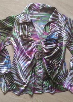 Блуза женская атлас