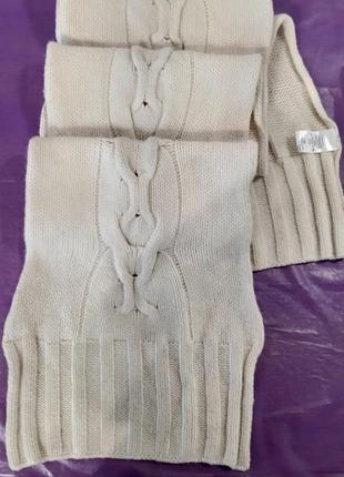 H&m шерстяной шарф длинный lambswool