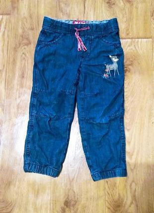 Теплые деми джинсы