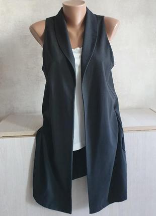 Накидка классическая, пиджак, желетка стильная в полосочку