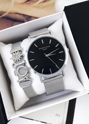 Часы годинник и браслет набор rosefield