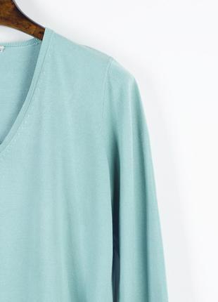 Бирюзовый свитер базовый, базовый пуловер, женский свитер оверсайз3 фото