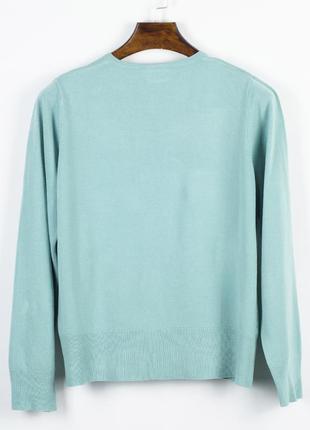 Бирюзовый свитер базовый, базовый пуловер, женский свитер оверсайз2 фото