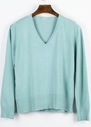 Бирюзовый свитер базовый, базовый пуловер, женский свитер оверсайз1 фото