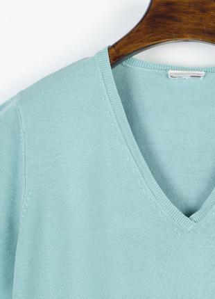 Бирюзовый свитер базовый, базовый пуловер, женский свитер оверсайз4 фото