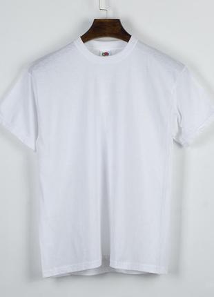 Базовая белая футболка, женская футболка однотонная белая, оверсайз футболка