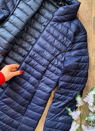 Куртка пуховик тонкий длинный