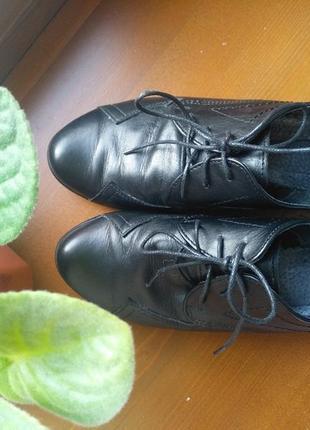 Кожанные туфли оксфорды 👞 37 размер