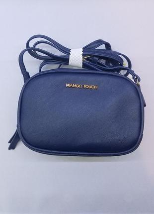 Маленька темно синя сумка mango touch (crossbody, клатч)