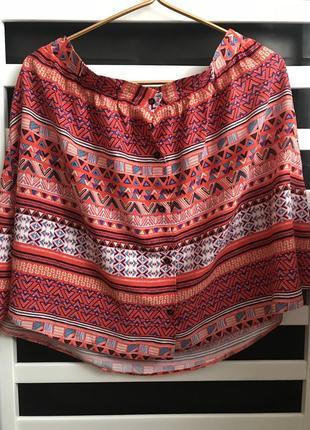 Юбка летняя юбка юбка принт юбка на пуговицах яркая юбка стильная юбка