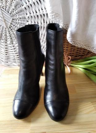 Кожаные сапоги полусапожки ботинки челси