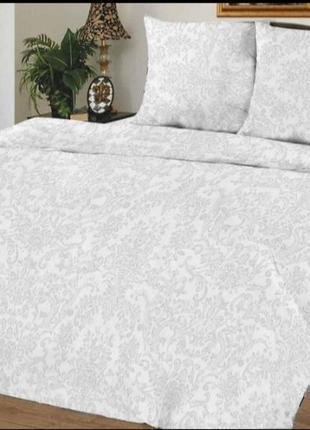 Комплект постельного белья, постельное белье хлопок бязь белые вензели