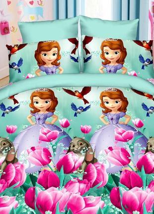 Детский комплект на односпальную кровать, хлопок