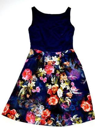 Oasis. очень красивое платье с пышной юбкой в розы. 8.хс-с. 34