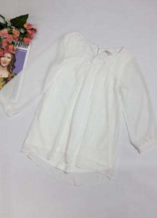Белая шифоновая блузка clockhouse размер 36 s