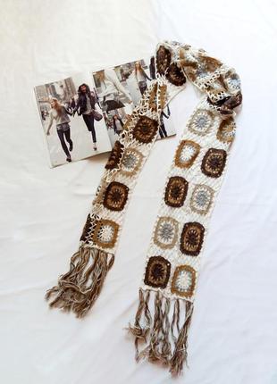 Тонкий шарф ажурной вязки passigatti