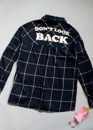 Хлопковая рубашка свободного кроя оверсайз