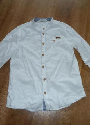 H&m белая рубашка на 7-9 лет
