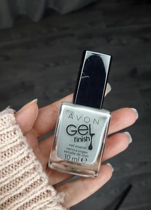 Серый ментоловый лак для ногтей гель эффект эйвон