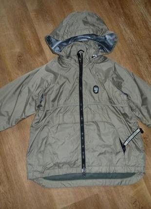Next куртка, ветровка на флисе на 7-8 лет некст