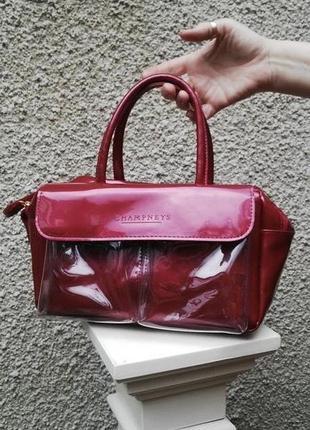 Яркая алая вишневая силиконовая сумка champneys оригинал