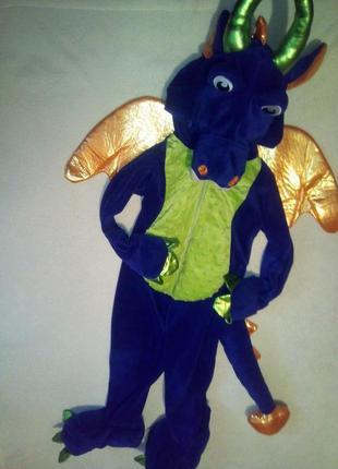 Шикарный карнавальный костюм дракона на мальчика 3/4 года