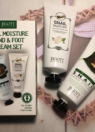 Бьюти-набор для ухода за руками и ногами jigott real moisture hand&foot cream set