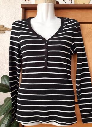 Новый лонгслив -футболка с длинным рукавом в актуальном морском стиле