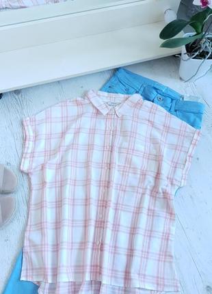 Блуза в клетку papaya...ткань хлопок