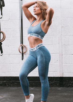 Спортивные лосины gymshark flex ice blue