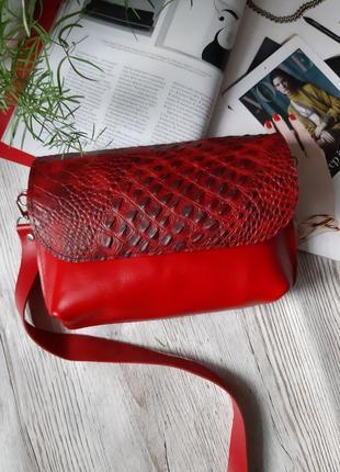 Кожаная поясная сумочка