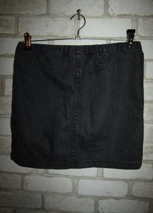 Джинсовая юбка р-р s бренд h&m3 фото