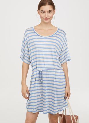 H&m. товар из англии. платье футболка с поясом. на наш размер 48.