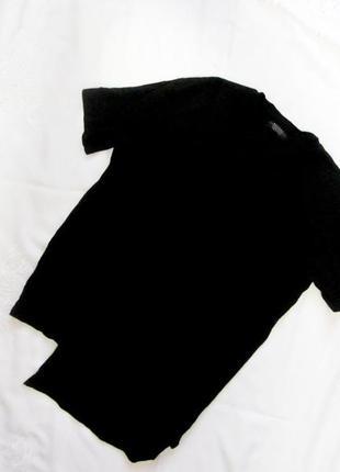 Новая фирменная, длинная черная футболка, удлиненная. дешево. распродажа!