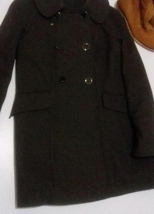 Пальто сучасне колір темно зелений болотяний розмір 14 l