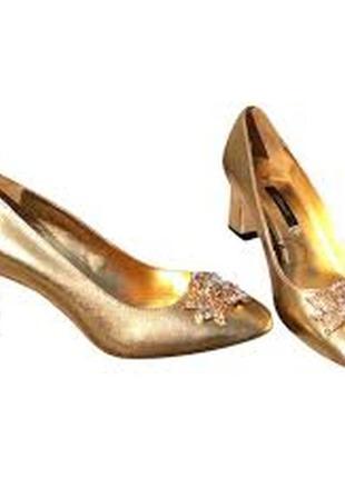 Праздничные кожаные туфли uterqüe