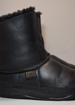 Угги fitflop mukluk leather сапоги ботинки зимние овчина цигейка. оригинал. 41 р./26 см.